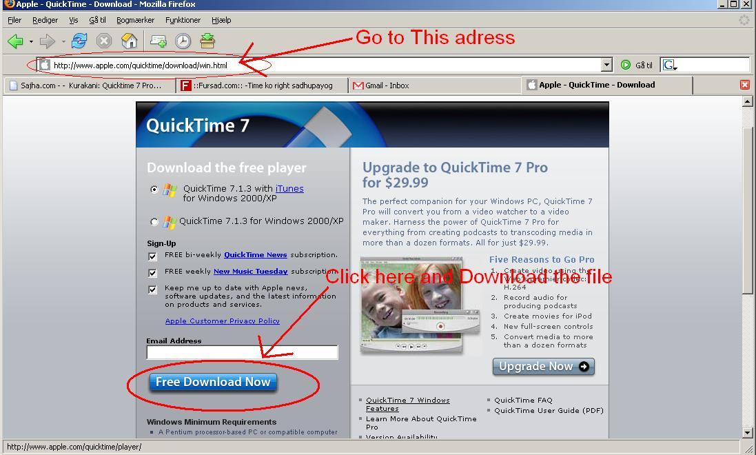 Quicktime 7 Pro    - Sajha Mobile